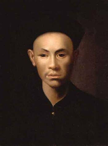 Painting of a Chinese man by Jens Juel (late 1700s)
